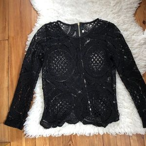 See-Through Lace Long Sleeve